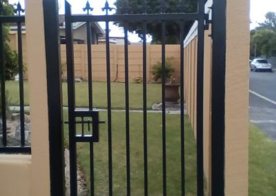 Black Bar Steel Pedestrian Gate